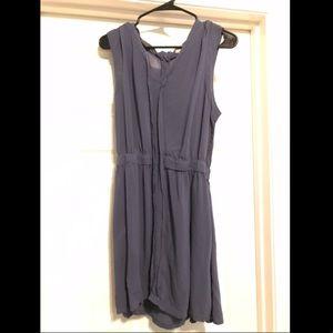 Sleeveless blue/grey cotton dress